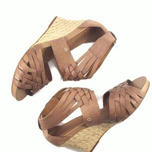 Indigo by Clarks Woven Leather & Jute Wedges